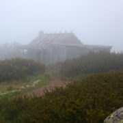 Craigs Hut in the fog